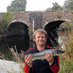 Dom Sheppard - grilse from St Catherines BridgeTony Derrick - 15lb salmon